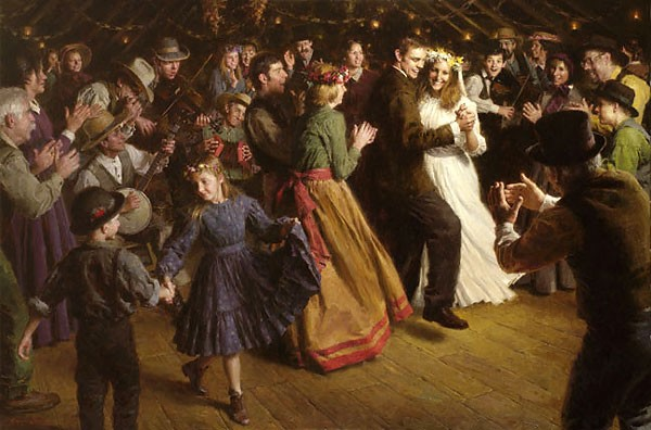 Morgan WestlingThe First Dance 1884 Americana MASTERWORK EDITION ONCanvas
