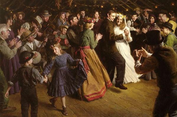 Morgan WestlingThe First Dance 1884 AmericanaCanvas