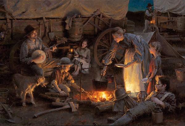 Morgan WestlingOregon Trail Family 1848Canvas
