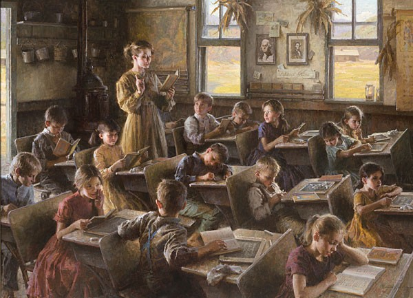 Morgan Westling Country Schoolhouse 1879 MASTERWORK EDITION ON Canvas
