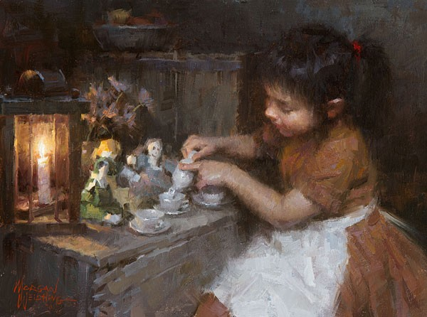 Morgan Westling Siennas Tea SMALLWORK EDITION ON Canvas