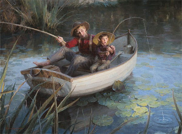 Morgan Westling The Fishing Hole MASTERWORK EDITION ON Canvas