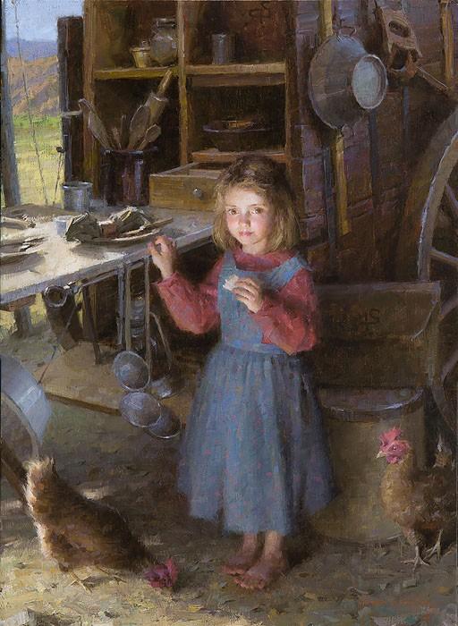 Morgan WestlingThe Chefs Daughter - Chuck Wagon 1892Canvas