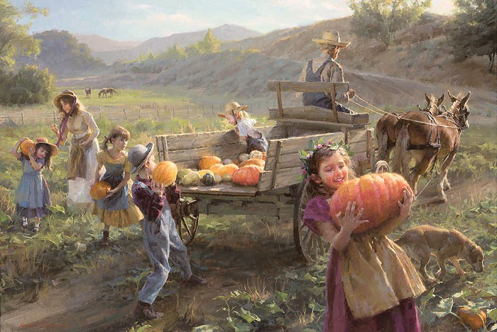 Morgan Westling End of Harvest MASTERWORK EDITION ON Canvas