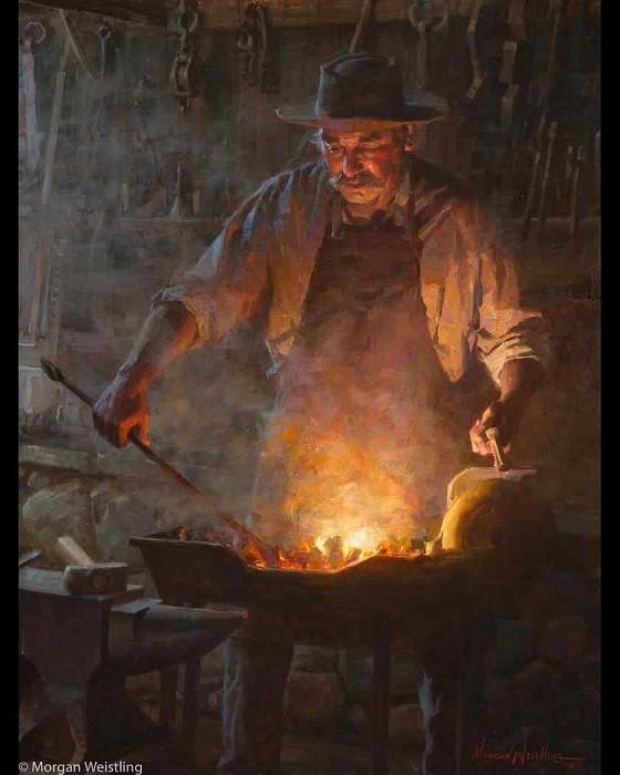 Morgan Westling The Blacksmith Shop Giclee On Canvas
