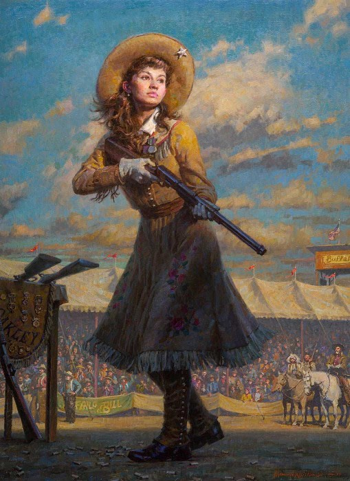 Morgan WestlingLittle Sure Shot, Annie OakleyGiclee On Canvas