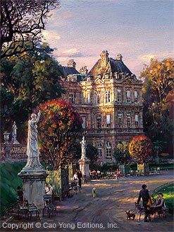 Cao YongThe Luxembourg Garden I Medicis' PalaceGiclee On Canvas The Paris Series