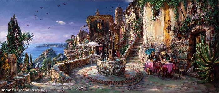 Cao YongMediterranean Sunrise Artist ProofGiclee On Canvas Artist Proof The Mediterranean Series