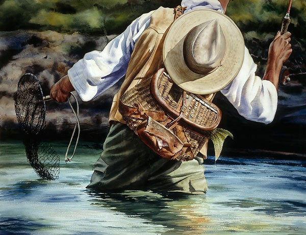 Nelson Boren Small River Big Fish Limited Edition Print