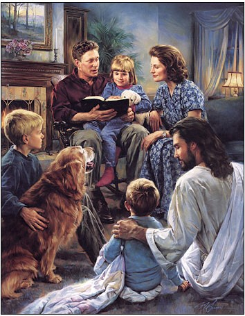 Nathan Greene Family Worship Canvas Giclee