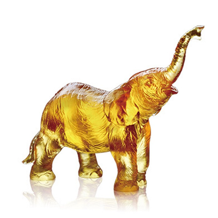 Liuli Crystal Elephant (Ambition) - Forever Toward the Sky