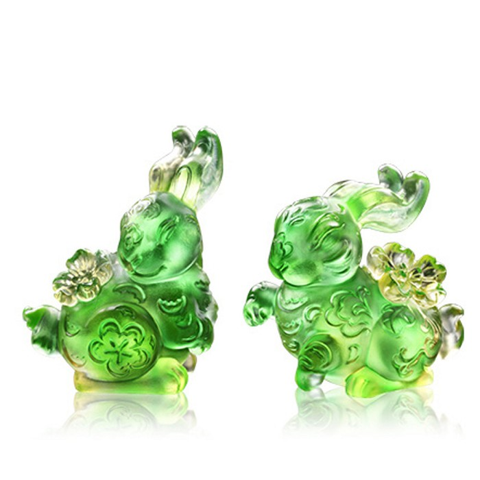 Liuli CrystalFortune with Each Step (Set of 2)