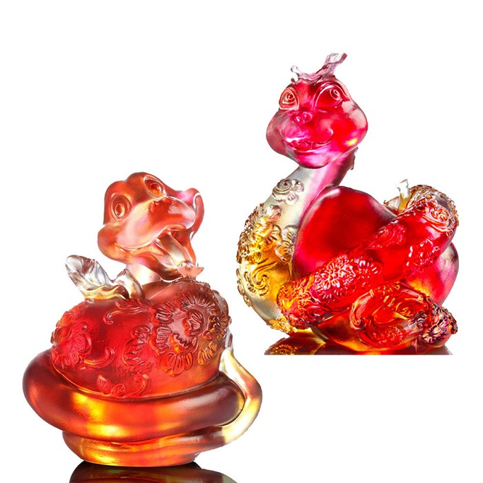 Liuli CrystalHappiness is to Embrace (Set of 2)