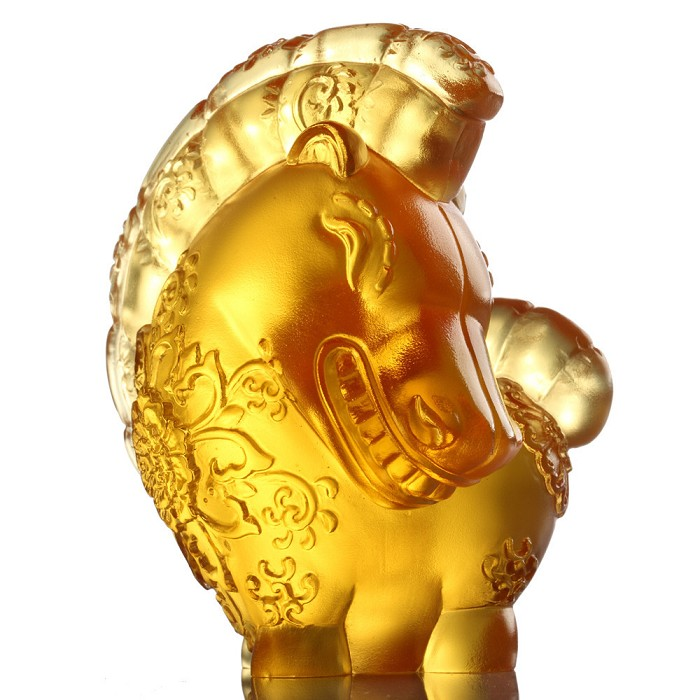 Liuli Crystal Zodiac Collection (Horse, Joy of Prosperity) - Jovial in Good Spirit