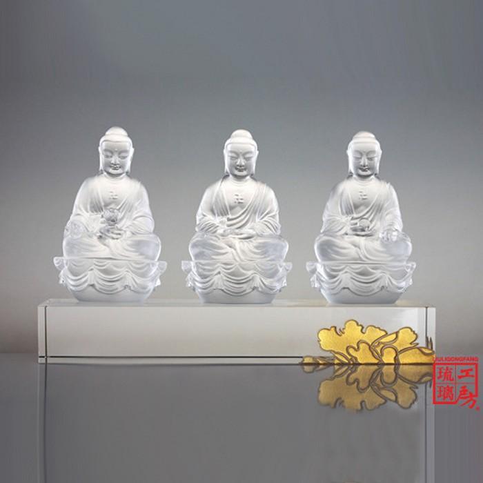 Liuli CrystalThree Treasures (Guardians of Peace) - Accompanied by Peace and Joy