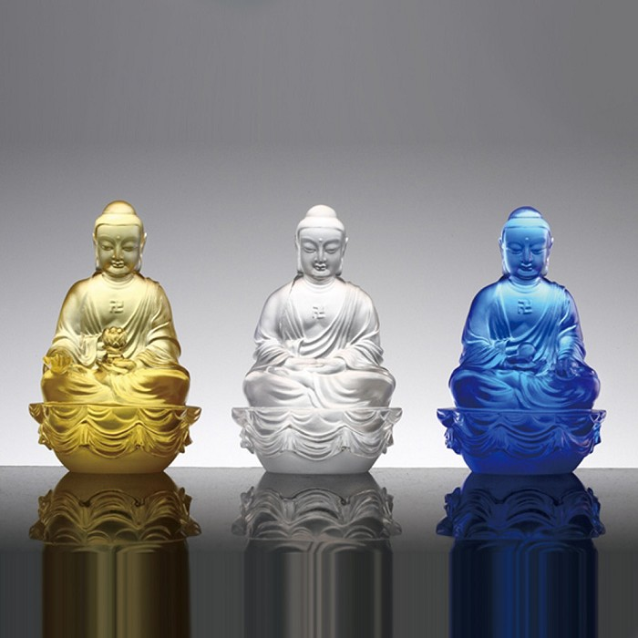 Liuli Crystal Three Treasures (Guardians of Peace) - Accompanied by Peace and Joy