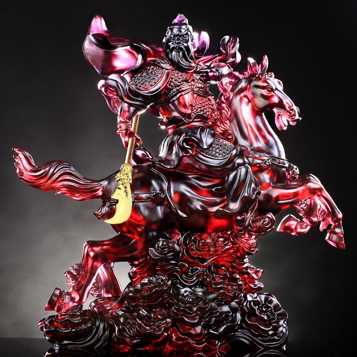 Liuli Crystal Courageous of General Guan Gong - Righteous One