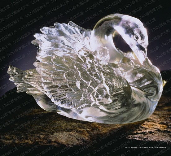 Liuli Crystal Carrying Through All - Swan (Love of a Mother)