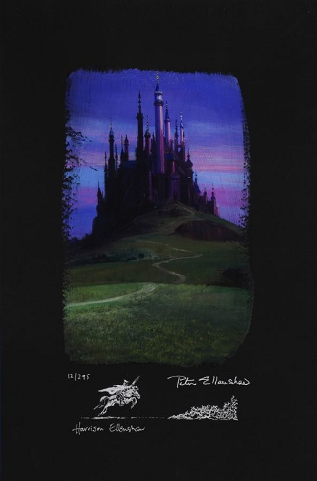 Peter / Harrison Ellenshaw Sleeping Beauty Castle Deluxe Chiarograph on paper