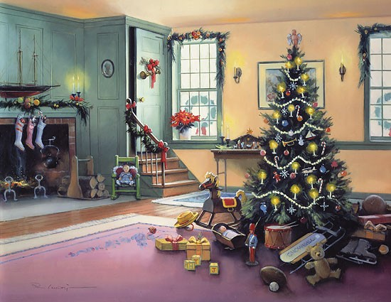 Paul Landry A CHRISTMAS MORNING (REMARQUE) Limited Edition Print