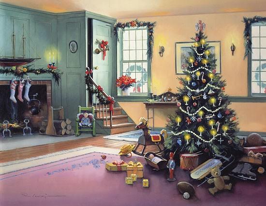 Paul LandryA CHRISTMAS MORNING (REMARQUE) Limited EditionPrint