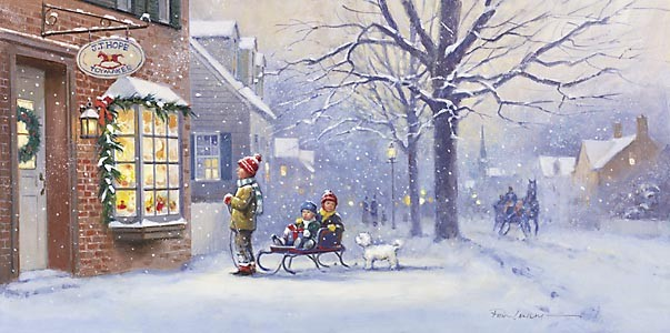 Paul Landry A CHRISTMAS WISH Canvas