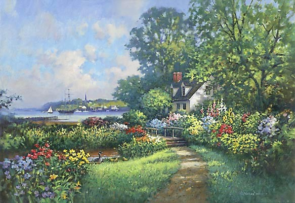 Paul Landry CECILIAS GARDEN Canvas