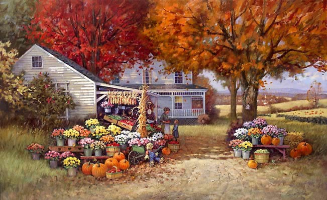 Paul Landry AUNT MARTHAS AUTUMN HEIRLOOM Canvas