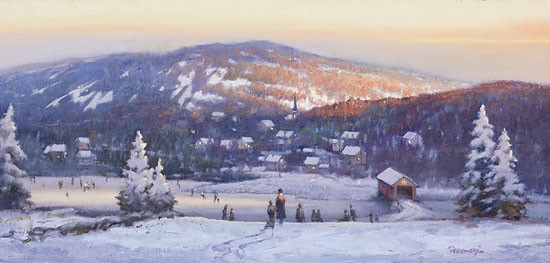 Paul Landry New England Winter Canvas