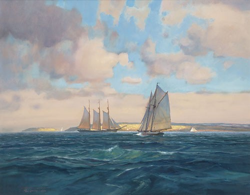 Paul Landry Sailing Home Canvas