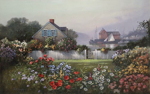 Paul Landry A Sailors Garden Canvas