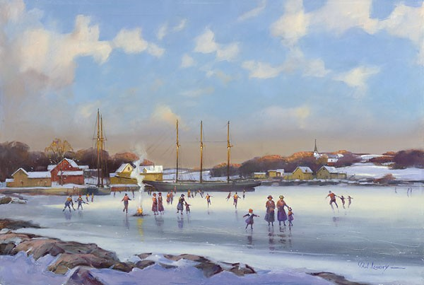 Paul Landry Bay Skaters Canvas