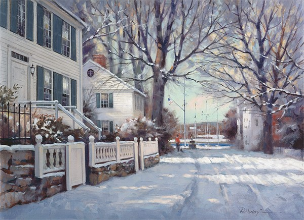 Paul Landry Southport in Winter Canvas