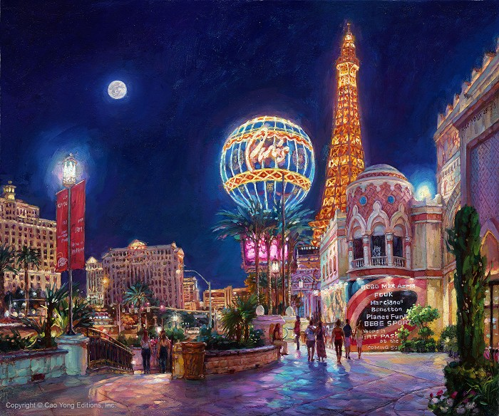 Cao Yong Paris, Las Vegas Artist Proof Giclee On Canvas Artist Proof The Grand American Series
