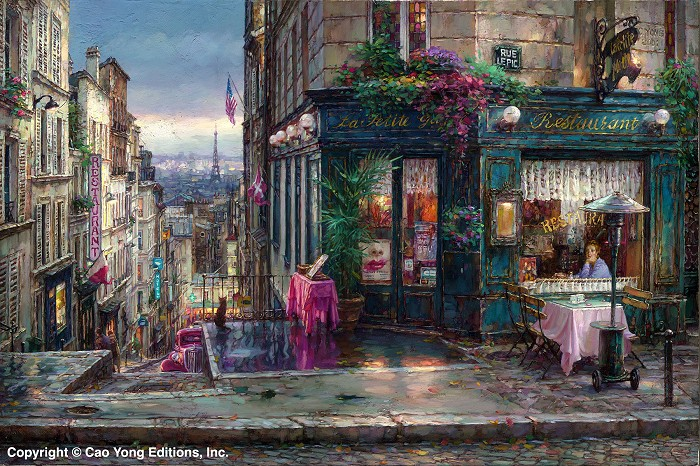 Cao Yong Parisian Dreams Artist Proof Giclee On Canvas Artist Proof The Paris Series