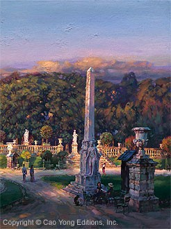 Cao Yong The Luxembourg Garden IIi Peaceful Moment Giclee On Canvas The Paris Series