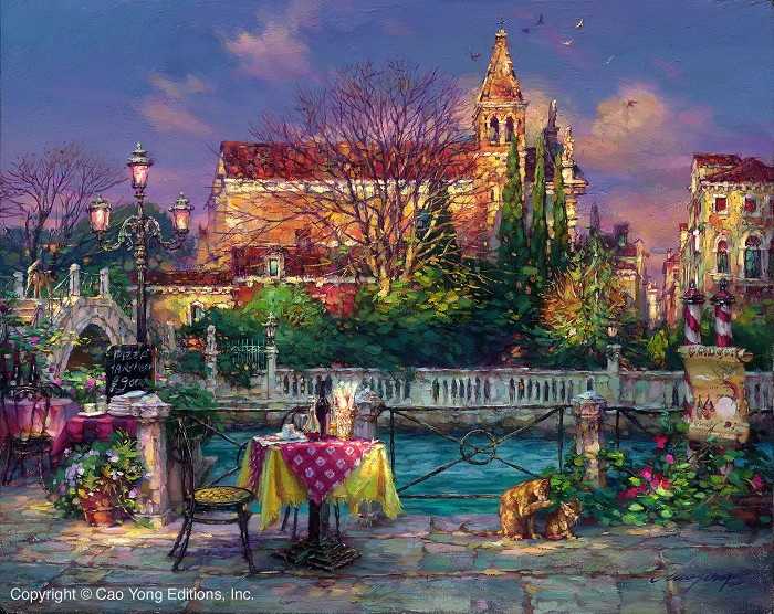 Cao Yong Pleasant Day Artist Proof Giclee On Canvas Artist Proof The Venice Series