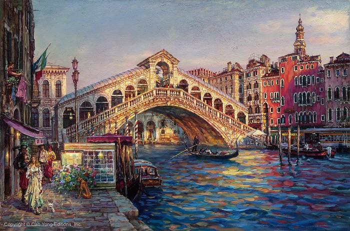 Cao YongPonte Di Rialto, Venice Artist ProofGiclee On Canvas Artist Proof The Venice Series