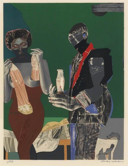 Romare Bearden Before the First Whistle Lithograph