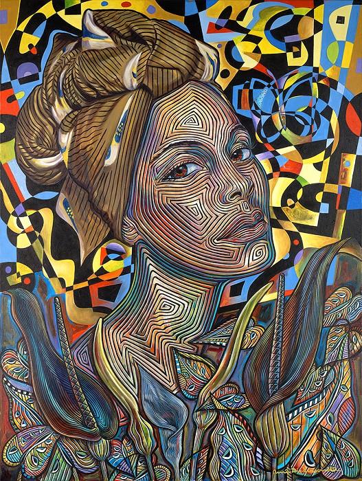 Rene DickersonAsiaGiclee On Canvas