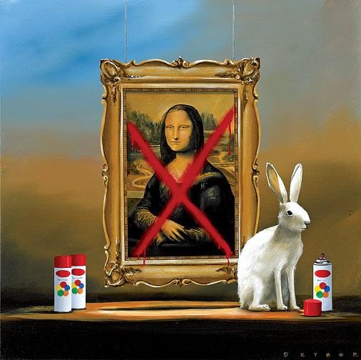 Robert DeyberBad Hare Day V (Mona Lisa)