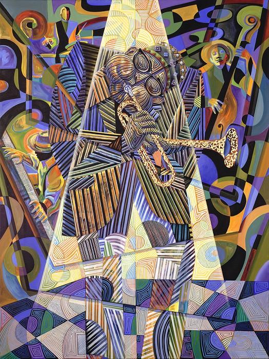 Rene DickersonDIZZIES HORN IIGiclee On Canvas