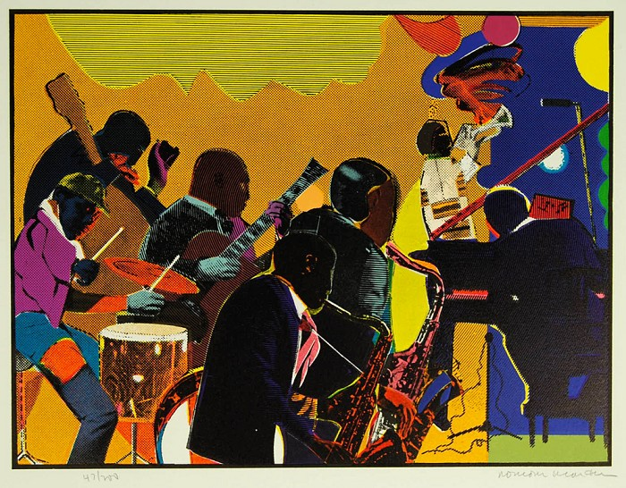 Romare Bearden Out Chorus Etching Artist Signed
