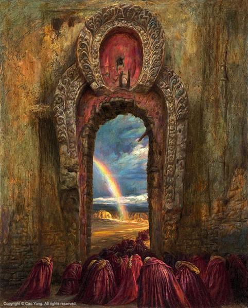 Cao YongRainbow Artist ProofGiclee On Canvas Artist Proof The Tibet Series