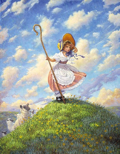 Scott Gustafson Little Bo Peep Limited Edition Print