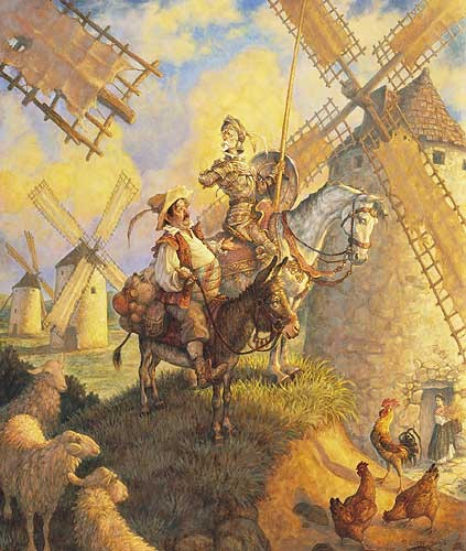 Scott Gustafson Don Quixote Limited Edition Print