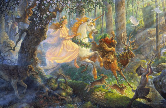 Scott GustafsonThe Maiden And The Unicorn Limited Edition Print