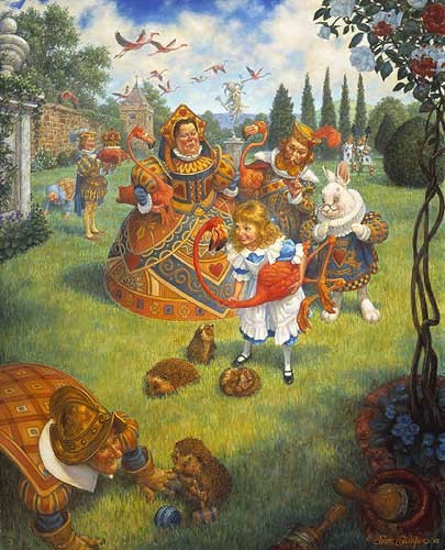 Scott Gustafson The Queen´s Croquet-Ground Limited Edition Print