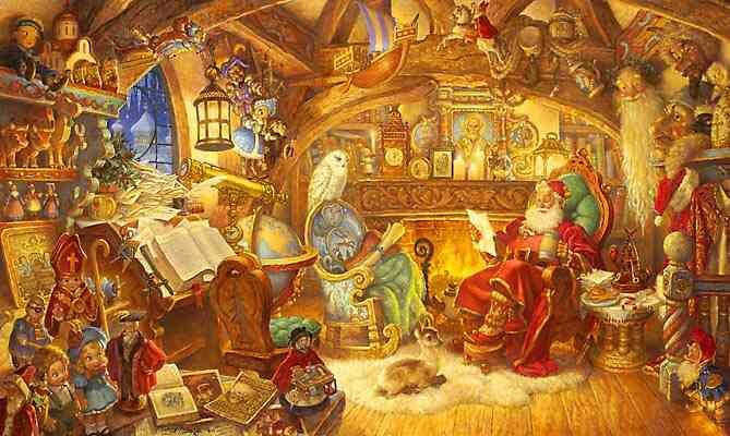 Scott Gustafson St. Nicholas In His Study Limited Edition Print