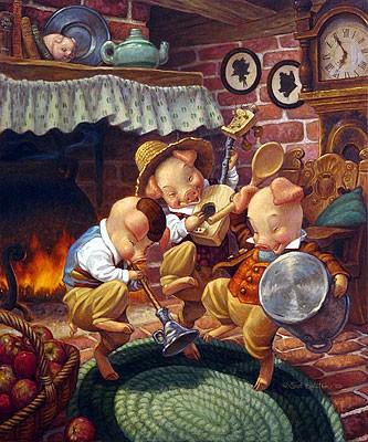 Scott GustafsonThree Little Pigs Limited Edition Print